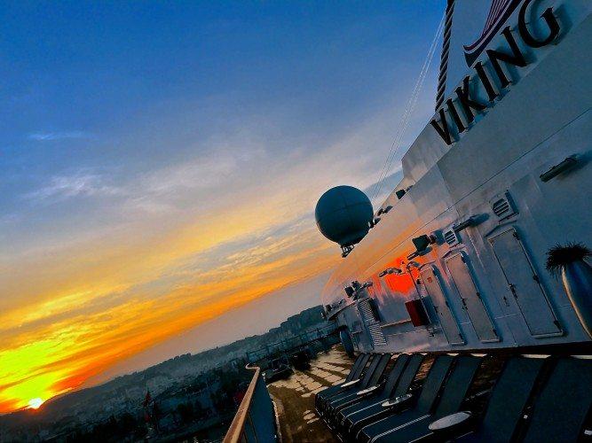 At sea at sunrise